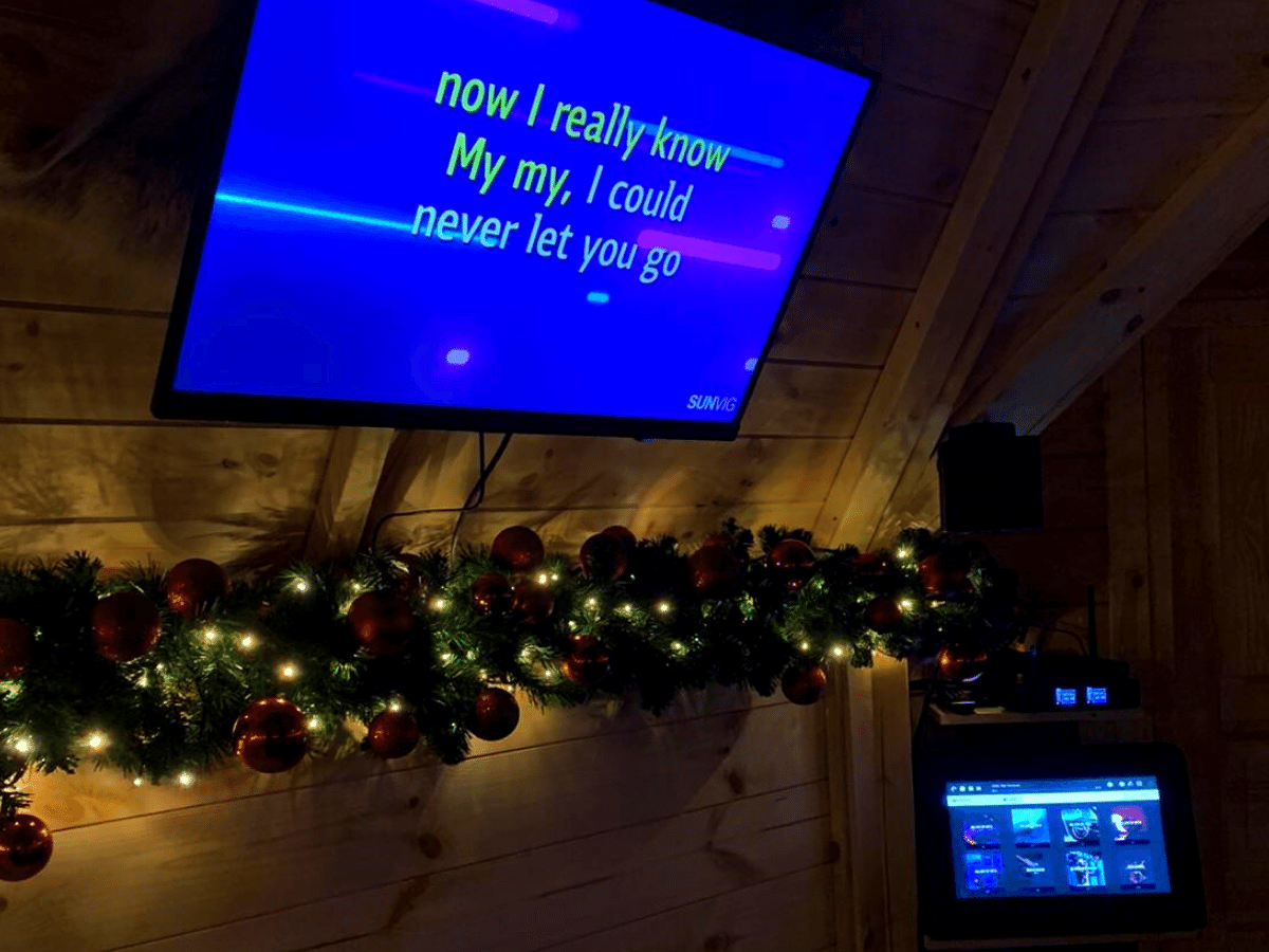Karaoke for a Private House is possible; only this cottage was special!